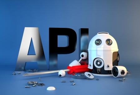 api: Application programming interface sign. Technology concept