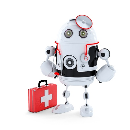 Medic Robot. Repair concept. Isolated photo