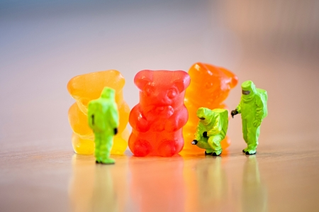 gummie: Group of Gummi bears. Food concept Stock Photo