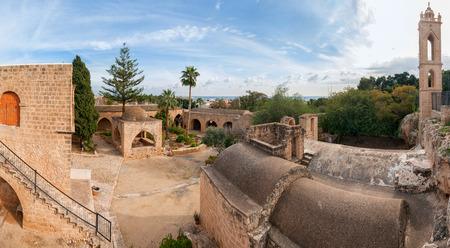 napa: Panorama of the Ayia Napa Monastery. Cyprus, Europe Stock Photo