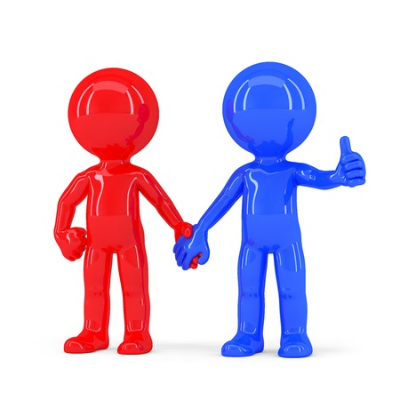 A pair of holding hands undefined people. Isolated. Contains clipping path photo