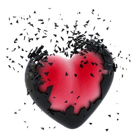 Exploser coeur. Isolé Banque d'images - 26728147