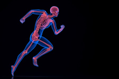 Running 3d skeleton. Contains clipping path Stock Photo - 28219141