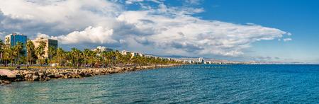 Limassol Skyline Panorama. Zypern Lizenzfreie Bilder