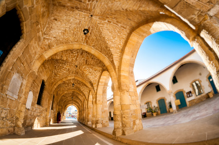 Arcs von Ayious Lazarus-Kirche, Larnaca, Zypern Standard-Bild - 28219180