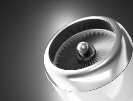 turbines: Front view of a jet engine