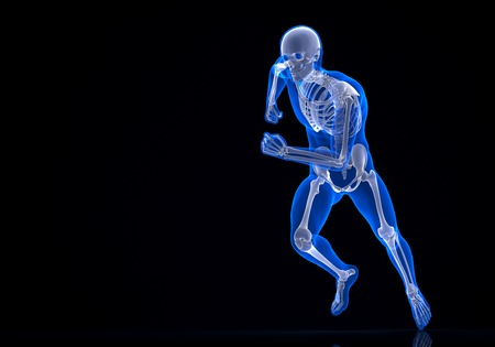 Running 3d Skeleton. Contains clipping path photo