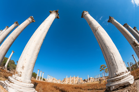 Archaeological site of ancient Salamis city  Famagusta district  Cyprus Stock Photo - 30162275