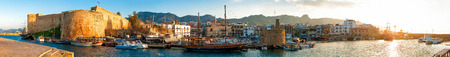 Kyrenia harbour and Medieval castle, Cyprus  photo