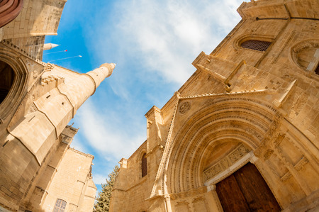 mustafa: St  Nicholas Cathedral  Lala Mustafa Mosque   Fisheye  Famagusta, Cyprus