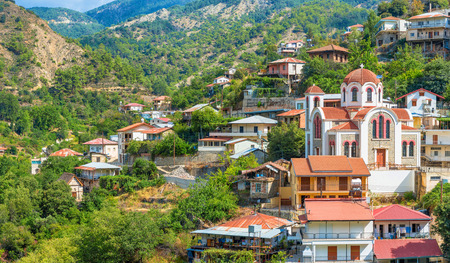 panoramic view of the village Moutoullas. Nicosia district. Cyprus photo
