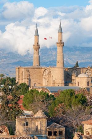 the selimiye mosque: Selimiye mosque (St. Sophia Cathedral). Nicosia, Cyprus