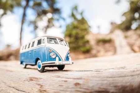 Miniature travelling van photo