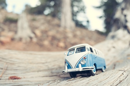 sunshine: Vintage travelling van. Macro photo