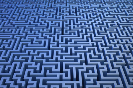 3D maze background
