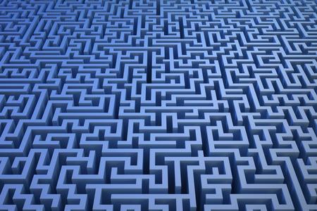 3D maze background photo