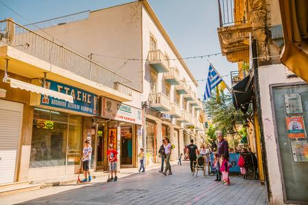 thoroughfare: NICOSIA - APRIL 13 : Ledra street, a major shopping thoroughfare in central Nicosia on on April 13, 2015