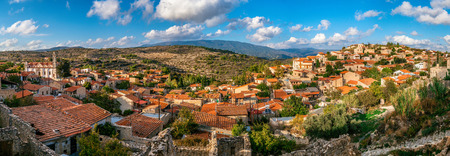 rural community: Lofou, a traditional mountain Cyprus village. Limassol District. Panorama