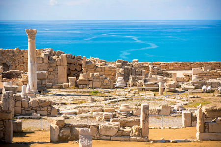 ruins is ancient: Ruins of ancient Kourion. Limassol District. Cyprus Stock Photo