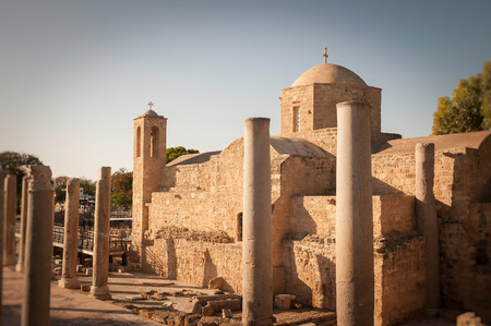 apses: The Panagia Chrysopolitissa church. Paphos, Cyprus