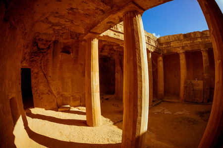 tumbas: Las Tumbas de los reyes. Paphos, Chipre.