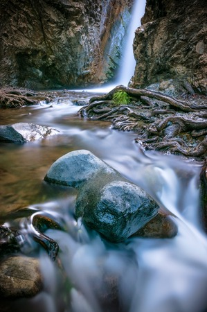 limassol: Caledonia waterfall. Platres viilage. Limassol District, Cyprus.