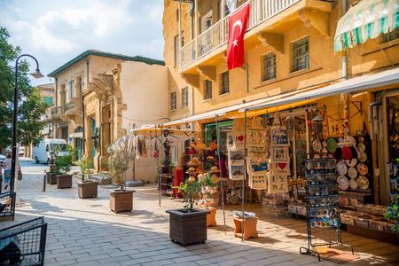 local: NICOSIA, CYPRUS - SEPTEMBER 19: Souvenir shop at popular touristic Arasta street.