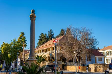 ataturk: NICOSIA, CYPRUS - DECEMBER 3:  Venetian Column at the Sarayonu Square Ataturk Square on December 3, 2015 in Nicosia. Editorial