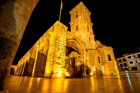 lazarus: Church of Saint Lazarus at night. Larnaca, Cyprus.