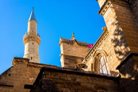 selimiye mosque: Part of Selimiye Mosque. Nicosia, Cyprus. Stock Photo