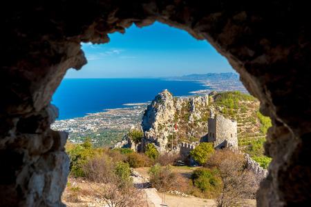 castle district: St. Hilarion castle. Kyrenia District, Cyprus. Editorial