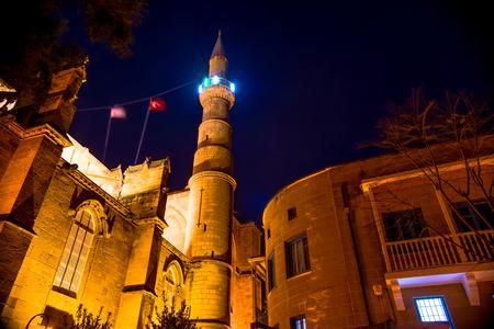 selimiye mosque: Selimiye Mosque at night. Nicosia, Cyprus.