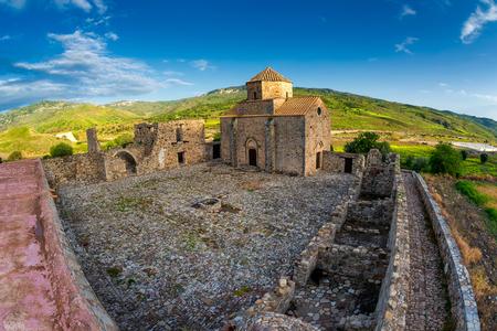 tou: Panagia tou Sinti Monastery. Orthodox monastery dedicated to the Virgin Mary. Paphos district. Cyprus Stock Photo