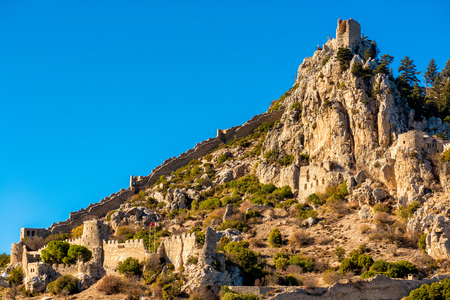 st hilarion: St. Hilarion castle. Kyrenia District, Cyprus. Stock Photo