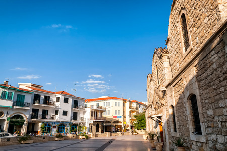 lazarus: LARNACA, CYPRUS - AUGUST 16: Church of Saint Lazarus square, a touristic center of Larnaca on August 16, 2015 in Larnaca, Cyprus.