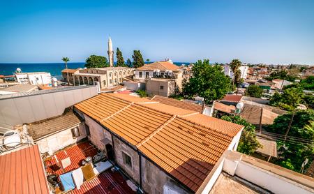 stone of destiny: Larnaca, old town. Cyprus. Stock Photo