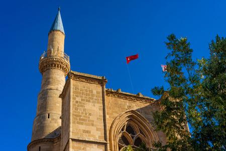 selimiye mosque: Minaret of Selimiye mosque. Nicosia, Cyprus.