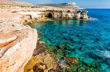 greco: Seashore in Aiya Napa near Cape Greco, Cyprus.