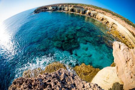 napa: Sea caves near Cape Greco. Ayia Napa, Cyprus.