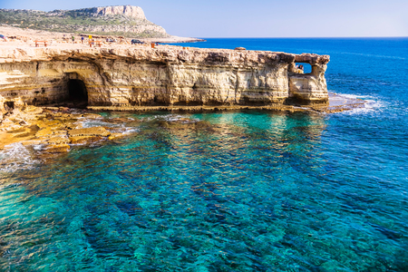 greco: Cape Greco, also known as Cavo Greco, a headland in the southeastern part of the island of Cyprus. Stock Photo