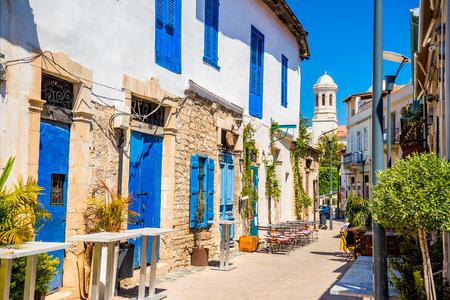 napa: Genethliou Mitellla street, a touristic street leading to Ayia Napa Cathedral. Limassol, Cyprus.