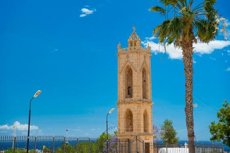 monastery: Bell tower of Ayia Napa monastery. Cyprus.
