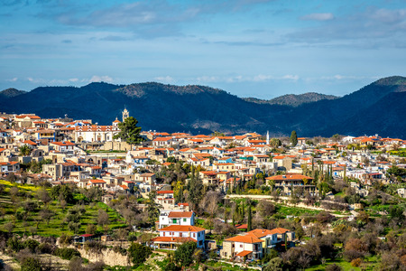 of pano: Lefkara, a picturesque village of Larnaca district. Cyprus.