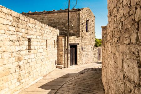 limassol: Street in Dora village. Limassol District, Cyprus.