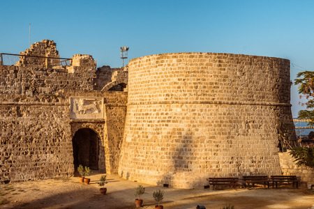 Othello Castle in Harbour of Famagusta. Cyprus.