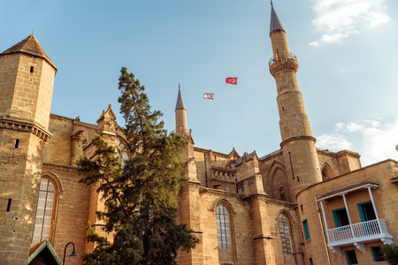 selimiye mosque: Selimiye Mosque, formerly St. Sophia Cathedral. Nicosia, Cyprus.
