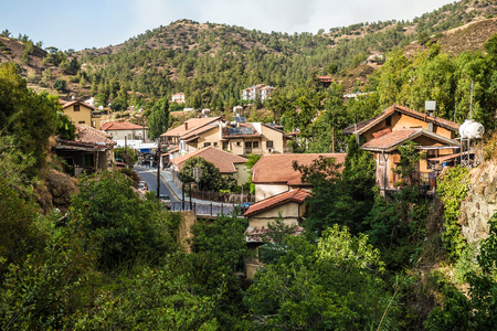 monasteri: Kakopetria, famosa località turistica nella parte settentrionale della catena montuosa di Troodos. Distretto Nicosia. Cipro.