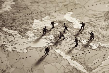 Syrië conflict. Conceptueel beeld voor de oorlog in het Midden-Oosten. Stockfoto