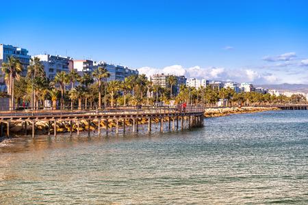 Limassol Cityscape en Seaside Park te bekijken. Cyprus.