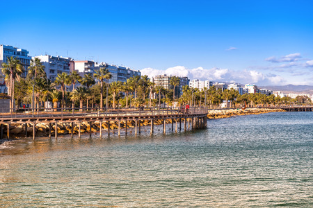 Limassol Cityscape and Seaside Park view. Cyprus.